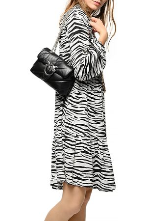 Pinko Utopia Zebra Striped Crepe Dress