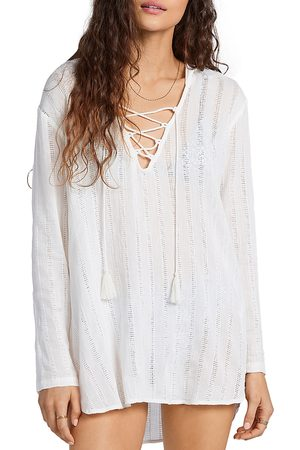 Billabong Same Story Lace Up Hooded Cover Up