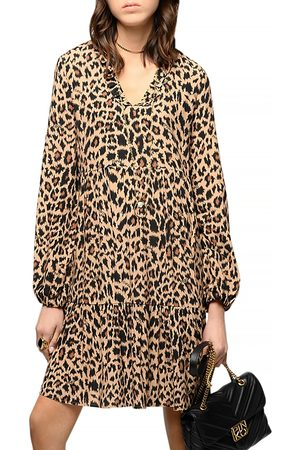 Pinko Utopia Leopard Spot Crepe Dress