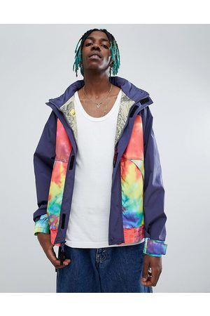 Billionaire Boys Club Sailing jacket with ideal tie dye print-Navy