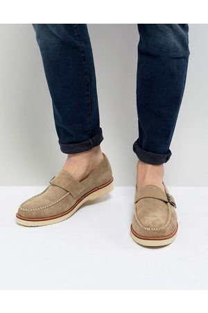Farah Ramone Suede Monk Shoes With Chunky Sole