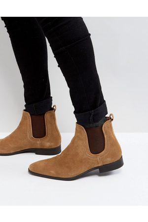 Zign Suede Chelsea Boots In Cognac