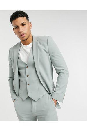 ASOS Wedding super skinny suit jacket in sage