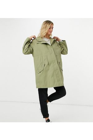ASOS ASOS DESIGN Maternity lightweight parka in sage