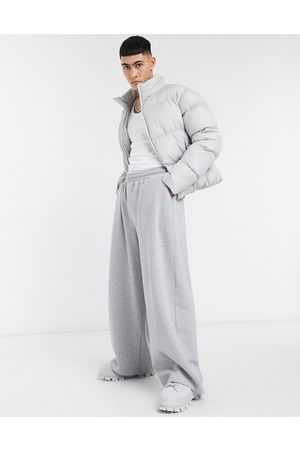 ASOS Oversized wide leg sweatpants in heather-Grey