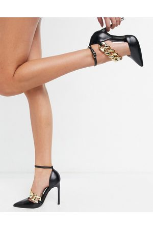 ASOS Palma chain detail high shoes in