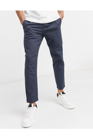 Only & Sons Drawstring pants in navy twill