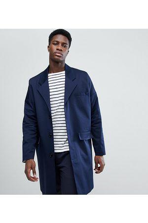 Noak Cotton duster coat in navy