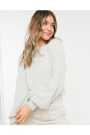 New Look Volume sleeve fluffy sweater in
