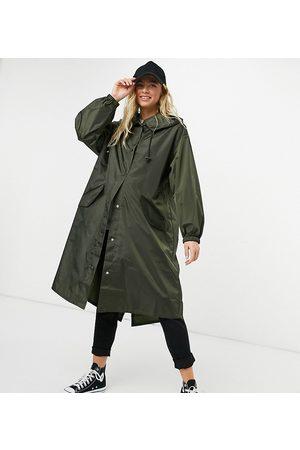 ASOS Maternity rain parka in khaki