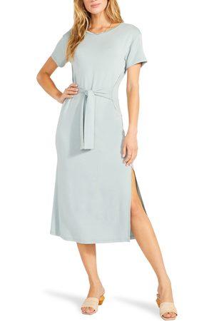 BB DAKOTA X STEVE MADDEN Women's Before Midnight Waist Tie Midi Dress