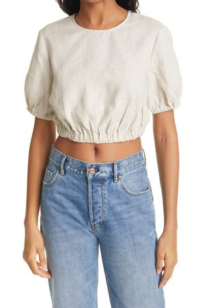 Staud Women's Athena Linen Crop Top