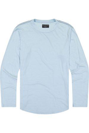 miss goodlife Men's Scalloped Hem Long Sleeve T-Shirt