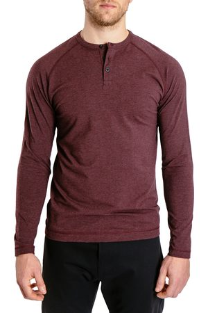 Public Rec Men's Go-To Long Sleeve Performance Henley T-Shirt