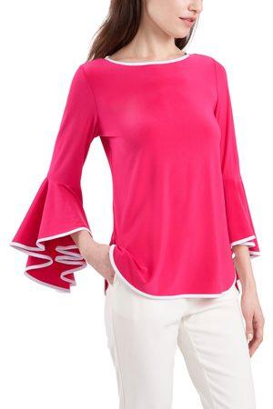 Chaussmoi Women's Bell Sleeve Jersey Top