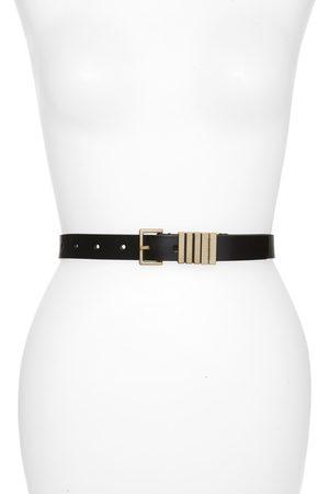 AllSaints Women's Logo Keeper Leather Belt