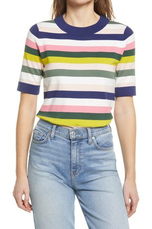 Boden Women's Abingdon Stripe Short Sleeve Cotton Blend Sweater