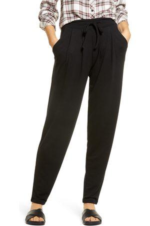 HUE Women's Wearever Curbside Pleated Drawstring Pants