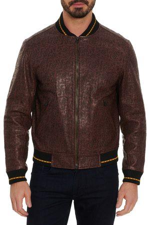 Robert Graham Men's X Marvel Panther Throne Leather Jacket