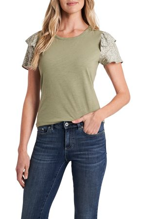 CE&CE Women's Ruffle Sleeve Knit Top