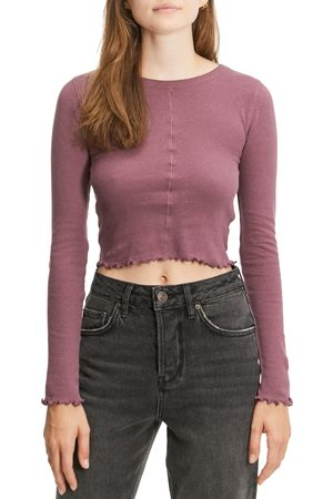 BDG Urban Outfitters Women's Camilla Long Sleeve Crop Top