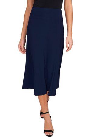 Chaussmoi Women's Elastic Waist Midi Skirt