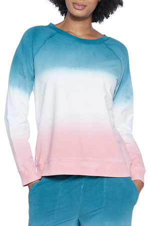 WASH LAB Women's Tie Dye Sweatshirt