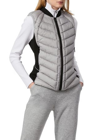 Bernardo Women's Neoprene Trim Channel Quilted Vest