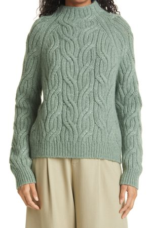Vince Women's Twisted Chain Mock Neck Sweater