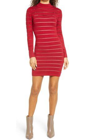 Bebe Women's Mock Neck Long Sleeve Sweater Dress