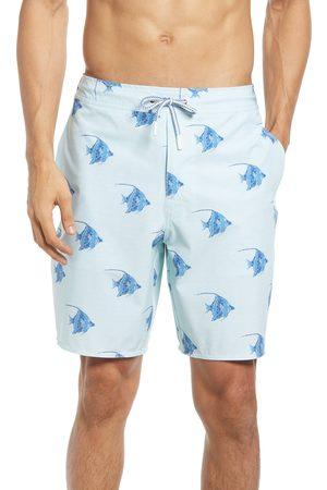 Johnnie-o Men's Hatton Fish Print Swim Trunks