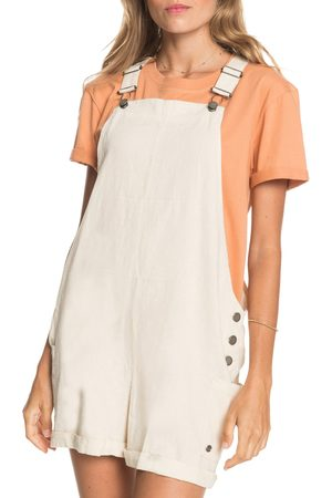 Roxy Women's Low Rising Linen Blend Shortalls
