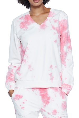 WASH LAB Women's Arctic Blast Tie Dye Sweatshirt