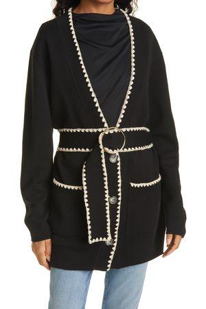 REBECCA TAYLOR Women's Merino Wool Blend Belted Cardigan