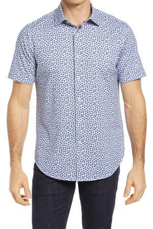 Bugatchi Men Short sleeves - Men's Ooohcotton Tech Floral Short Sleeve Knit Button-Up Shirt