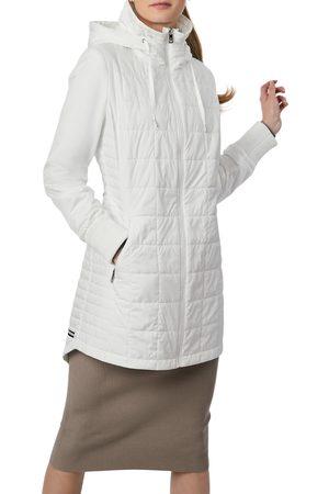 Bernardo Women's Water Resistant Puffer Hooded Jacket & Tote