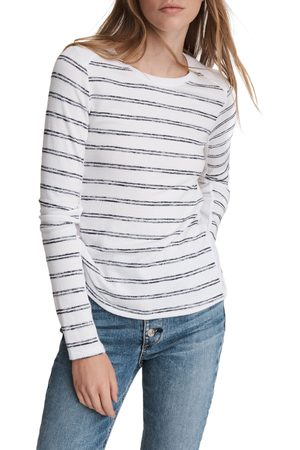 RAG&BONE Women's The Knit Summer Stripe Long Sleeve T-Shirt