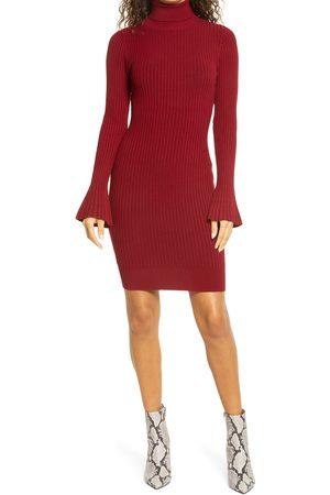 Bebe Women's Turtleneck Long Sleeve Sweater Dress