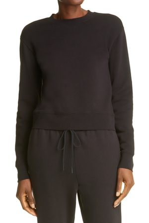 Vince Women's Essential Shrunken Crewneck Cotton Sweatshirt