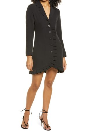 Bebe Women's Long Sleeve Crepe Blazer Dress