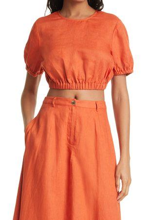 Staud Women's Athena Linen Crop Top
