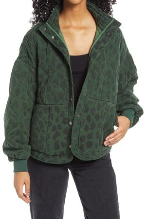 BLANK NYC Women's Leopard Print Quilted Jacket