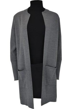 Sibin/Linnebjerg ZUNI Long Cardigan with Pockets Dark Grey