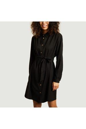 Admise Paris Françoise belted shirt dress Noir