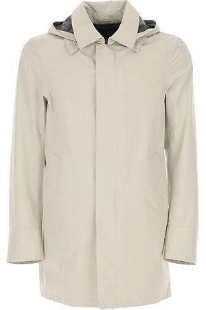 HERNO Trench Coat Hoodie Grey