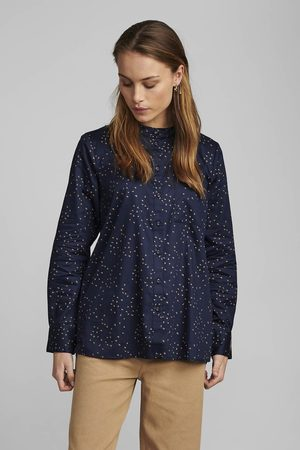 Numph Women Shirts - Navy Swallow Cotton Shirt
