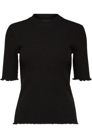 Selected Women T-shirts - Anna 2/4 crew neck tee