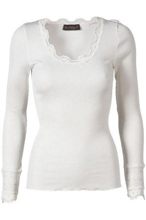 Rosemunde Silk Top Long Sleeve Vintage Lace New
