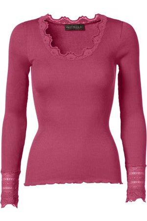 Rosemunde Silk top long sleeve (carmine)