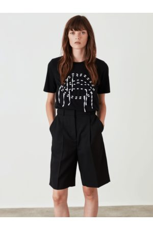Markus Lupfer Alex Embroidered Laced Lip Tee